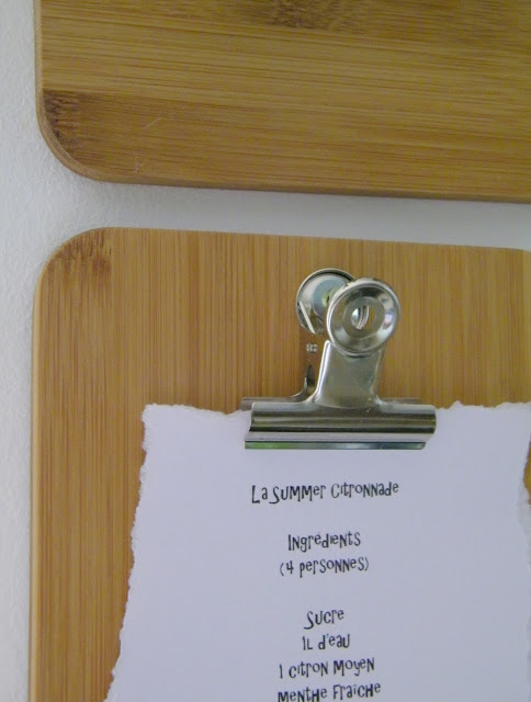 Mini bamboo clipboards - Planchettes à pince, en bambou