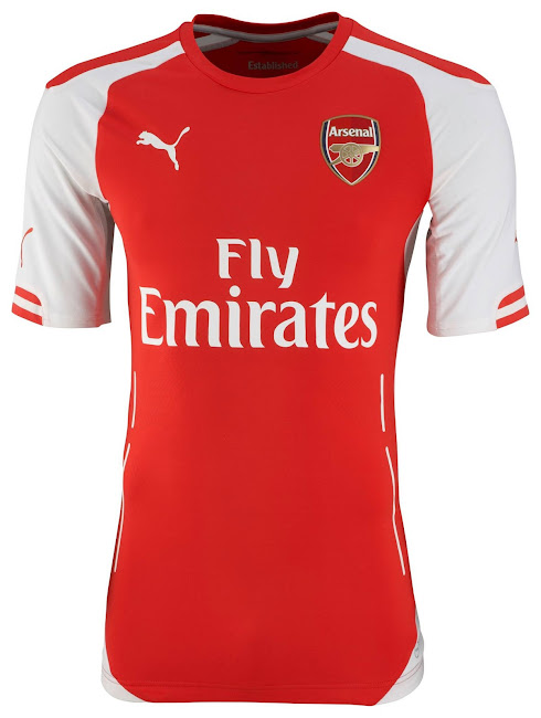 sneakers for cheap 73030 a9e54 Arsenal 14-15 (2014-15) Puma Home, Away, Third Kits Released ...