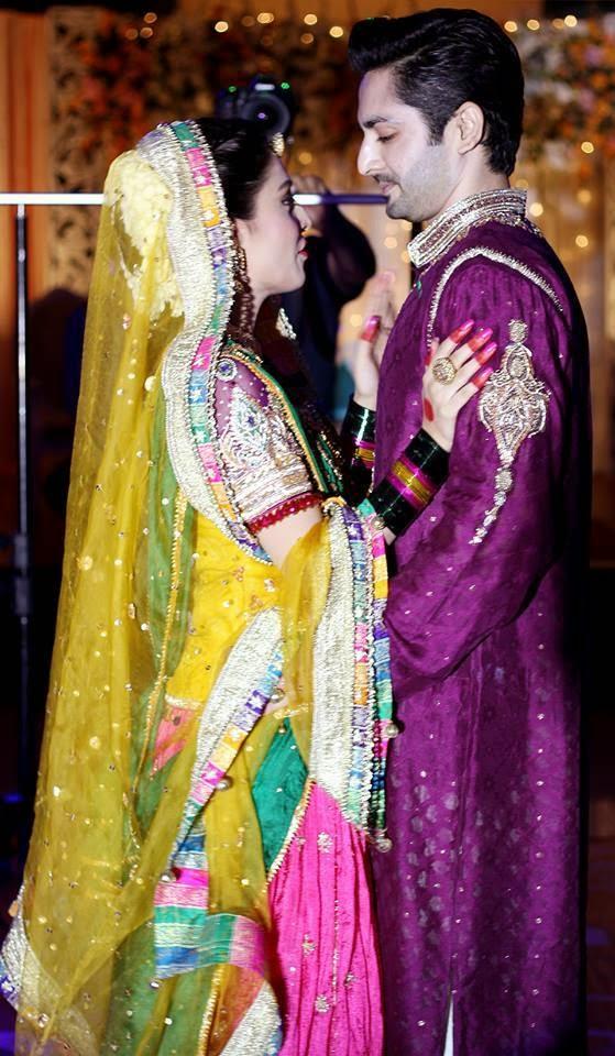 ayeza khan and danish taimoor mehndi celebrations mayoon