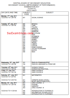 CBSE 10th exam date