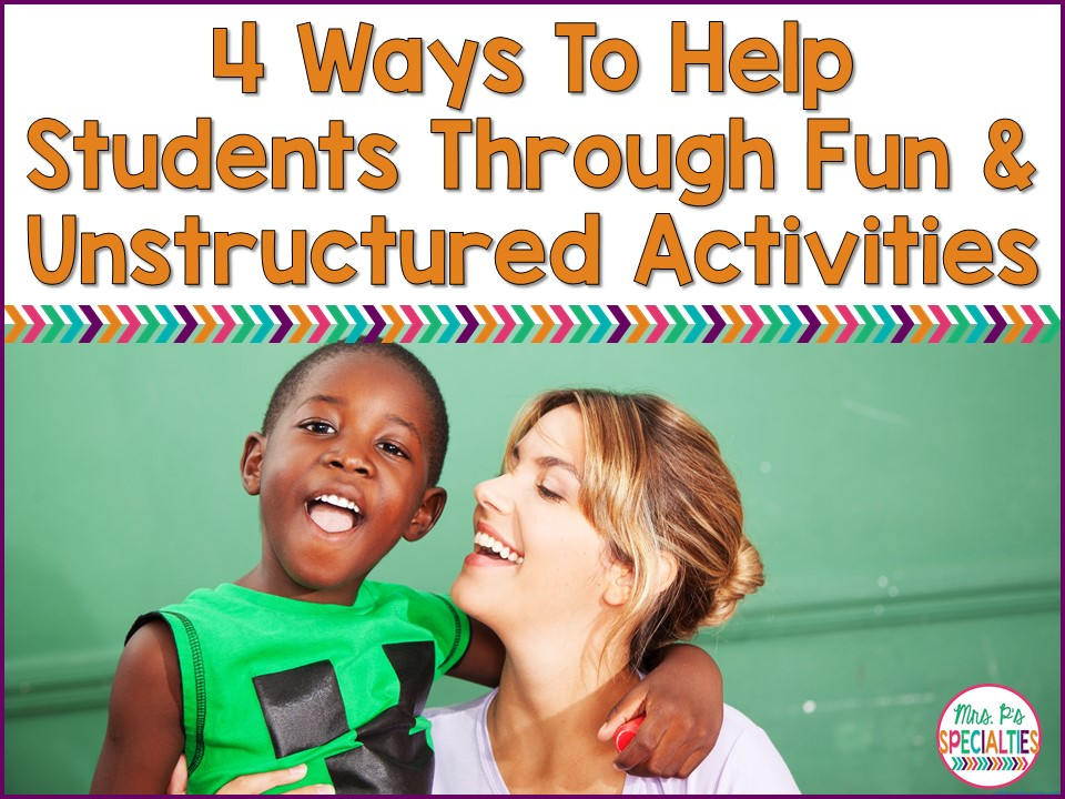 4 ways to help students cope and self-regulate during fun and unstructured activities or days. These ideas are especially helpful for special education classrooms, students with autism and self-contained programs.