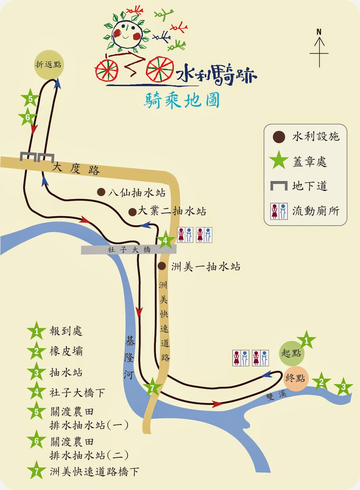 水利騎跡--鐵馬闖關護水利 生態家園得永續─臺北市七星生態保育基金會─公益市集