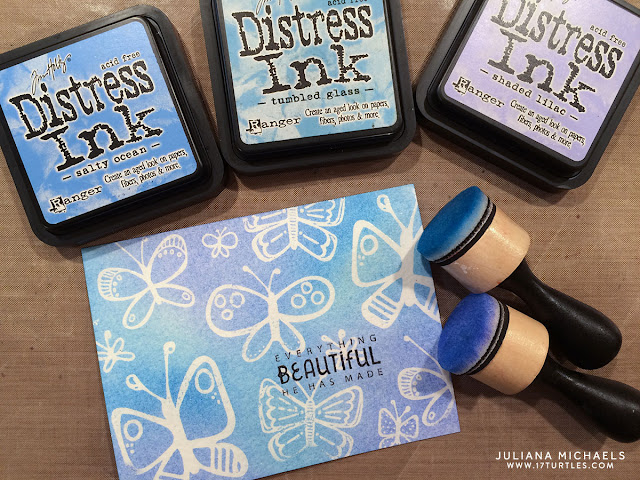 Dual Embossing and Distress Inking Everything Beautiful Card by Juliana Michaels featuring Bella Blvd Illustrated Faith Fly Free Stamp Set and Ranger Distress Inks