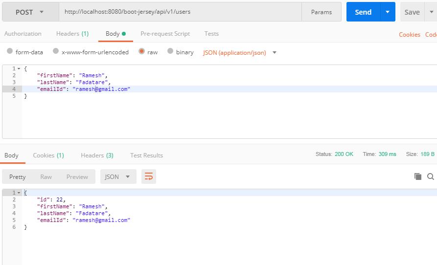 Spring Boot 2 + Jersey REST + JPA + Hibernate 5 CRUD REST APIs Example