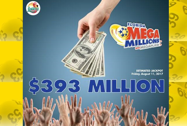 MEGA MILLIONS jackpot drawing on Friday, August 11, 2017