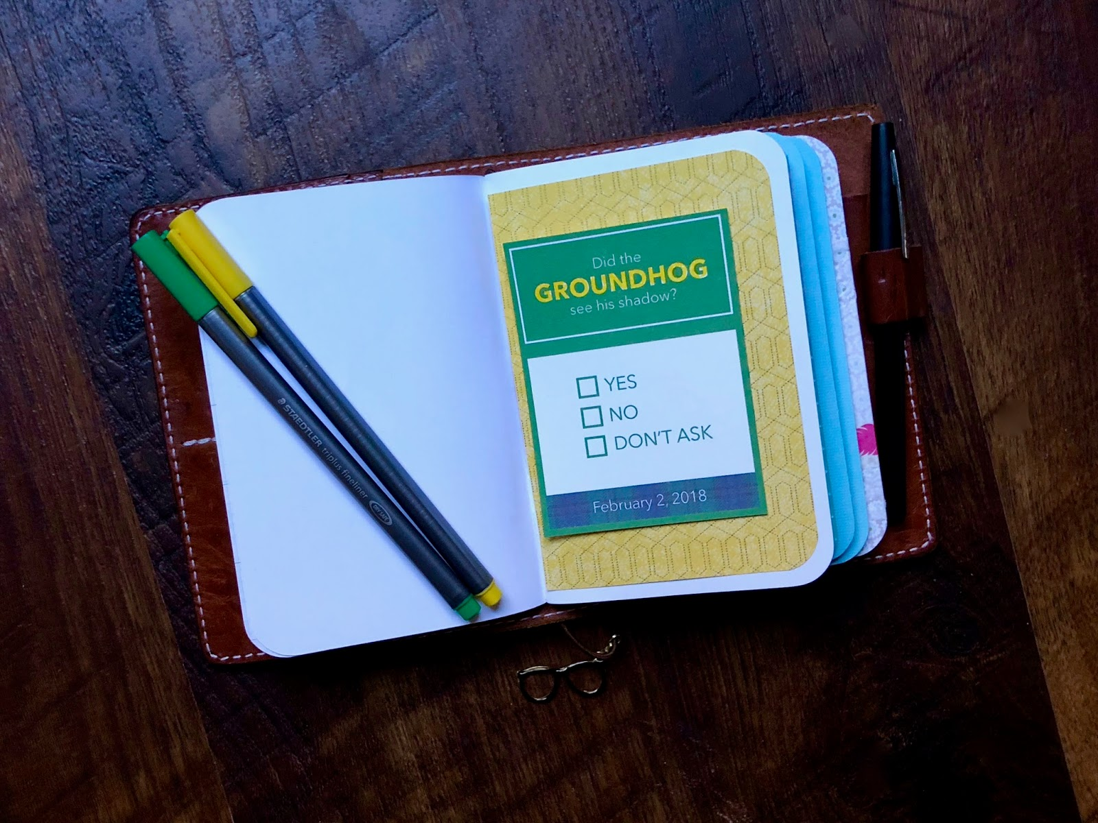 #free #journaling card #Groundhog Day #Project Life Freebie #scrapbooking #printable