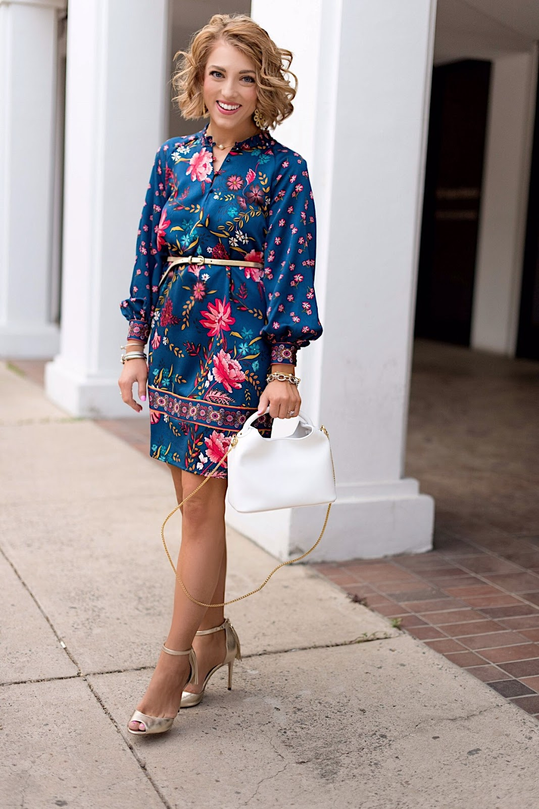 LOFT Wildflower Satin Shift Dress - Click through to see more on Something Delightful Blog