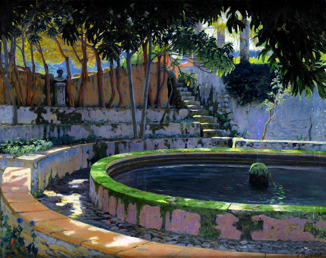Son Moragues, Santiago Rusiñol y Prats, Pintor español, Jardines y Parques, Paisajes de Santiago Rusiñol, Pintores Catalanes, Pintura española, Jardines de Aranjuez, Jardines de españa