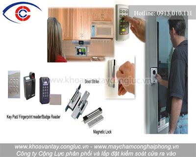 Phân phối và lắp đặt hệ thống kiểm soát cửa vân tay và thẻ chất lượng tốt, giá rẻ tại Hải Phòng.