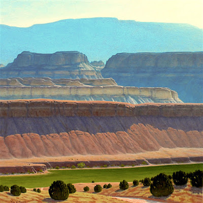 american landscape painting sandy ranch alfalfa fields capitol reef utah km withers art