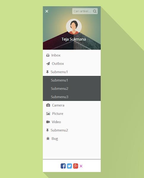 responsive sidebar navigation menu