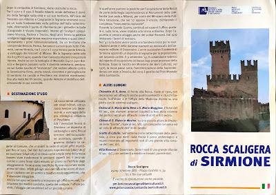 Castello Scaliergo (Rocca Scaligera di Sirmione) brochure.