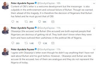 Obasanjo and Buhari are expired - Ayodele Fayose
