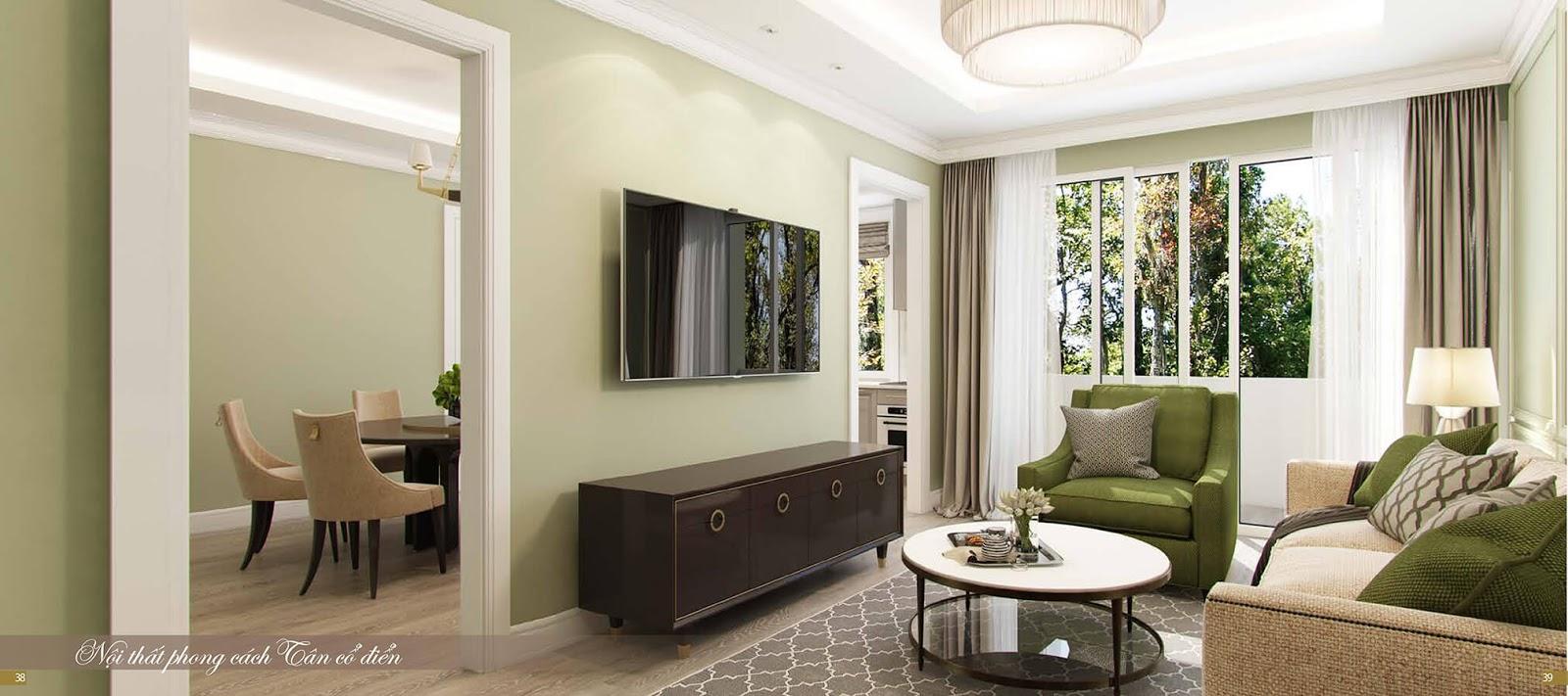 Thiết kế nội thất tân cổ điển tại dự án chung cư Imperia Sky Garden 423 Minh Khai