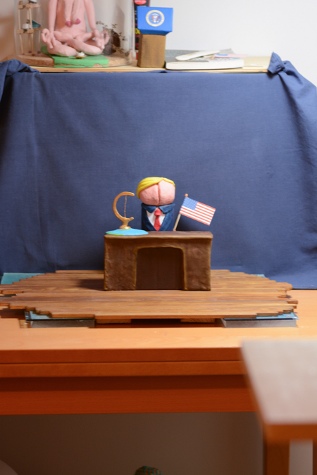 A Frontal picture of the set in which I animated Donald Trump
