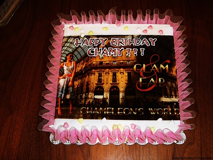 glam and fab chameleon birthday cake