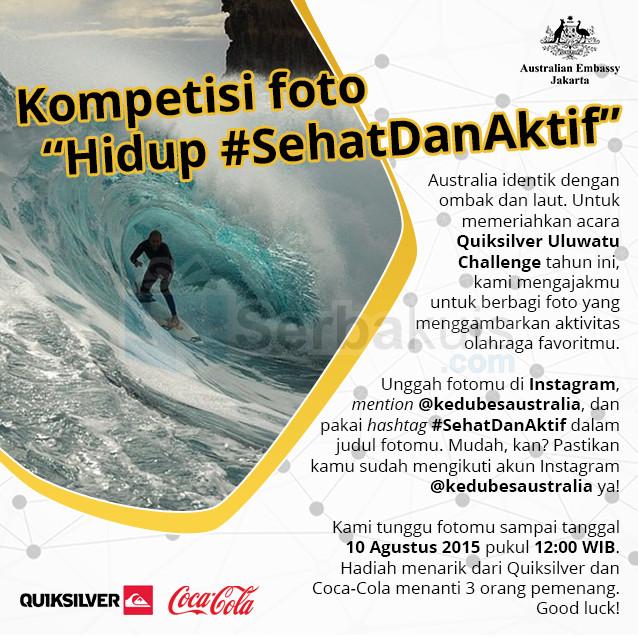 Kontes Foto Sehat & Aktif Hadiah Menarik dari Quicksilver & Coca-cola