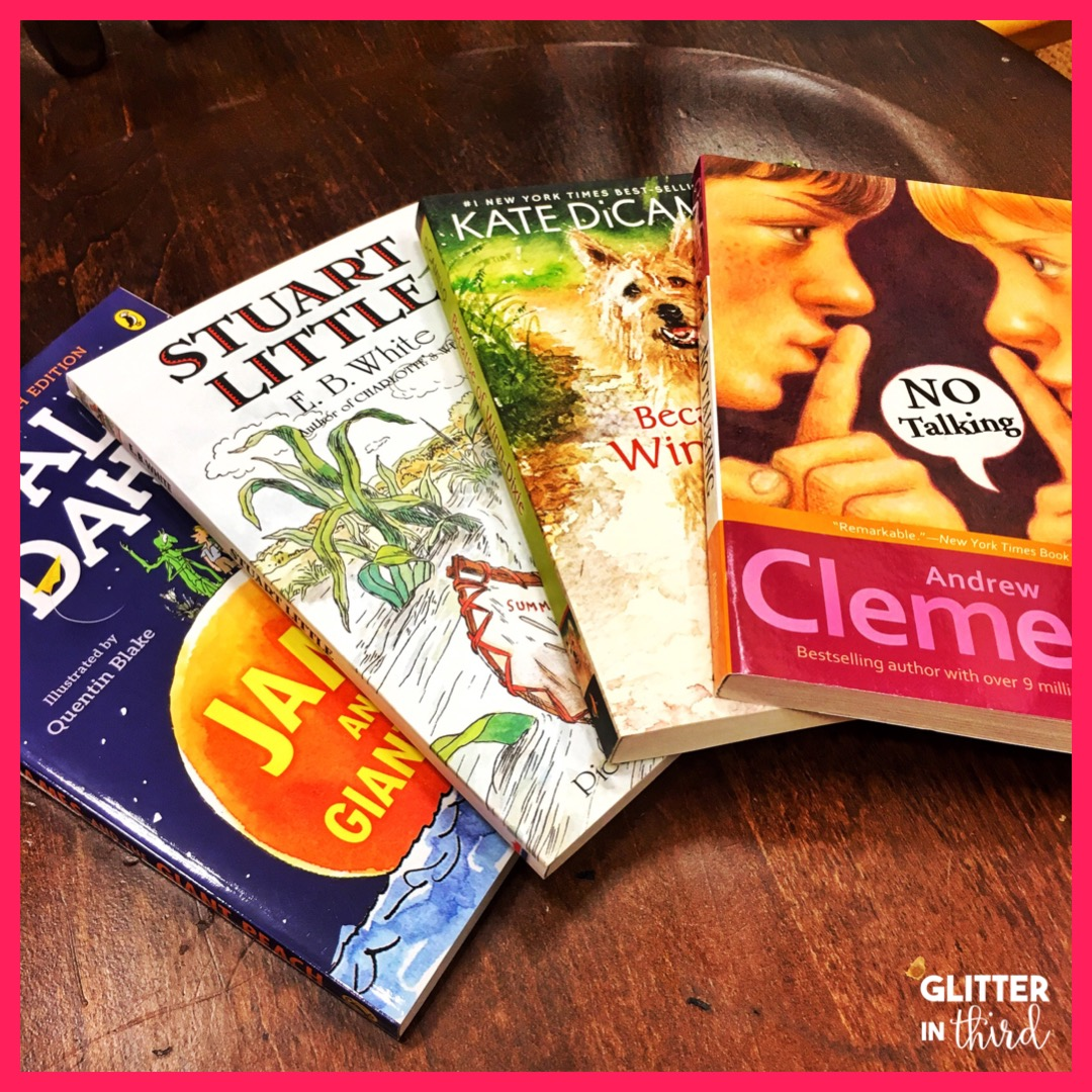 small resolution of Literature circle books for 3rd-grade - Glitter in Third