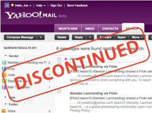 Yahoo mail classic ditutup