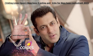 Bigg boss 9 voting poll | Vote for Bigg boss contestant 2015