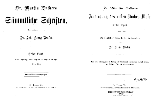 Back To Luther    and the old (German) Missouri Synod