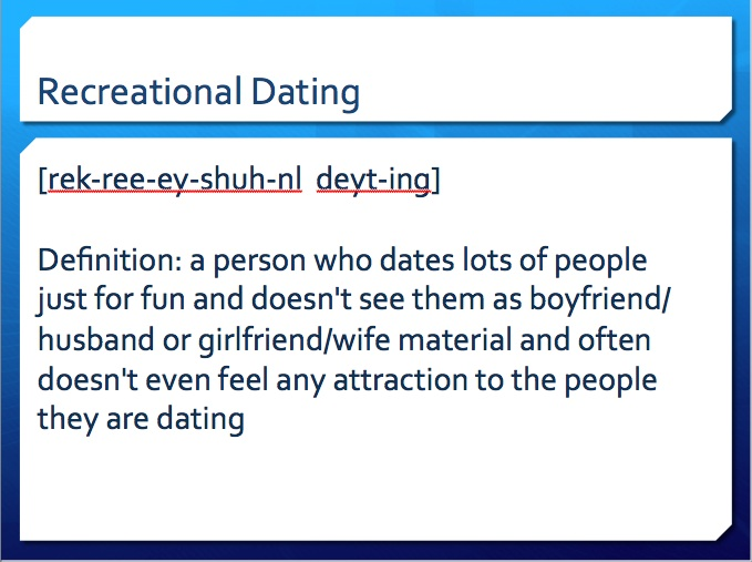 Dating down urban dictionary