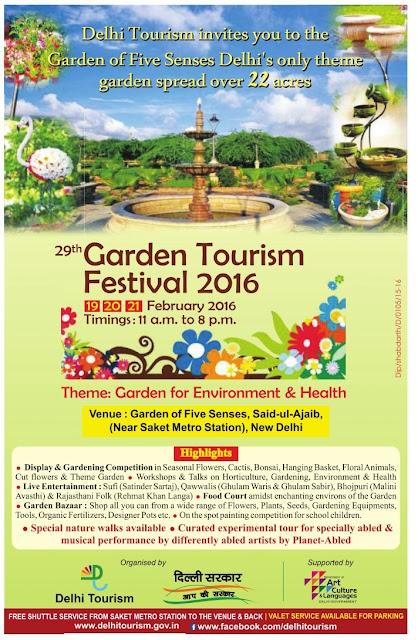 29th Garden Tourism Festival 2016 @Delhi | 19 to 21st February 2016