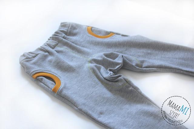 jak uszyć spodnie dla dziecka, szycie spodenek, owalne łaty na pupue