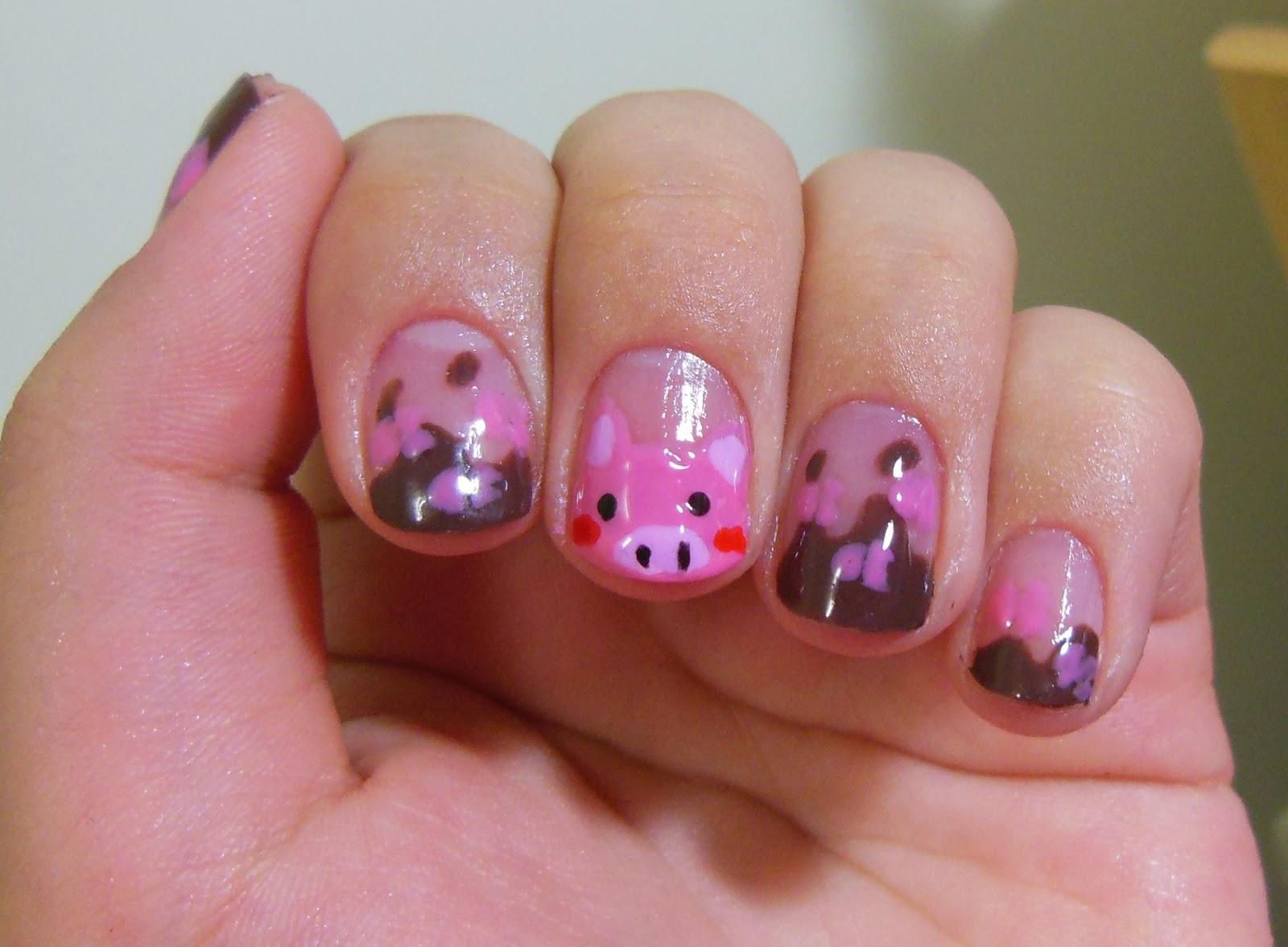 By Dani K.: Nail Art: Pig