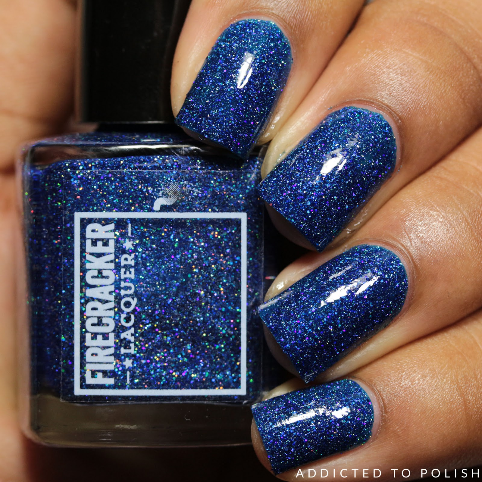 Fire Cracker Lacquer Stick & (blue) Berries | Addicted to Polish