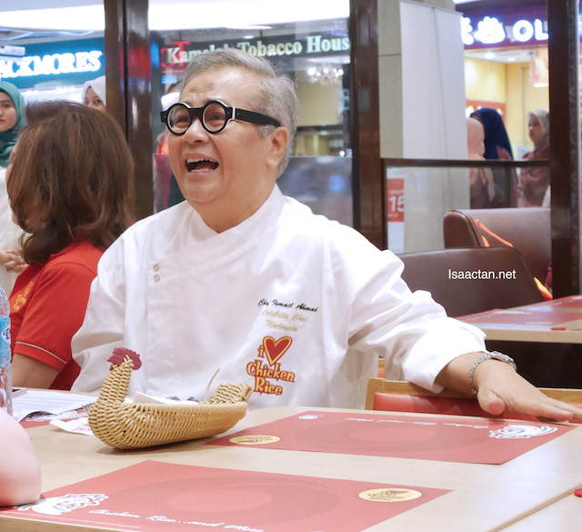 Dato' Chef Ismail Ahmad, Malaysia's very own celebrity chef and Brand Ambassador for The Chicken Rice Shop.