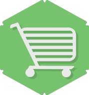 cart hexagon icon
