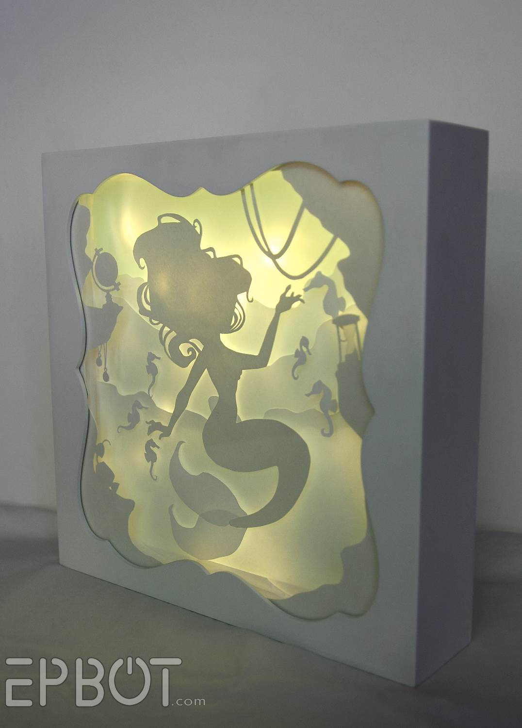 EPBOT This Little Mermaid Papercutting Lights Up AND IT