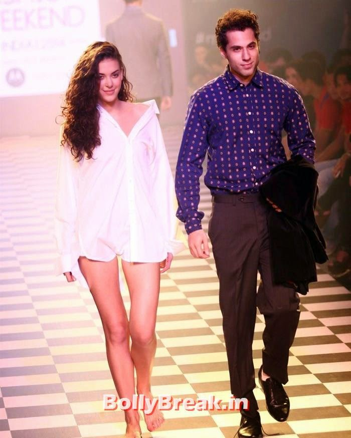 , Indian Models Photos in Shirt without Pants at Myntra fashion show