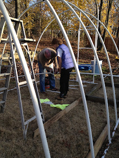 Thanksgiving Construction!!!!! | Polytunnel on Myrtle Avenue