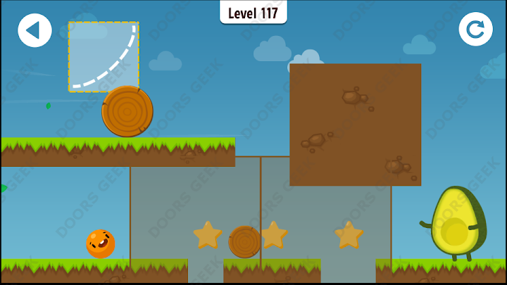 Where's My Avocado? Level 117 Solution, Cheats, Walkthrough, 3 Stars for Android, iPhone, iPad and iPod