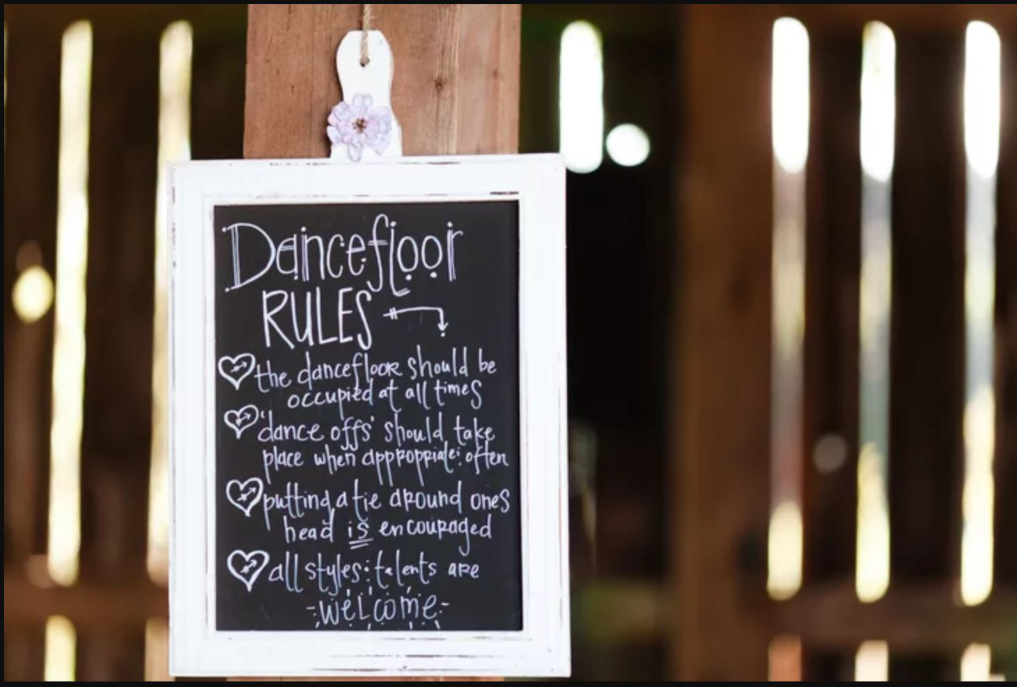 Dance Floor Wedding Sign
