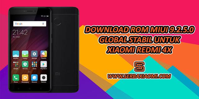 ROM MIUI 9.2.5.0 GLOBAL STABIL REDMI 4X