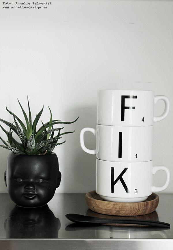 ansikte kruka, madam stoltz, ansikten, kaktus, kaktusar, kaffekopp med bokstäver, ekfat, fat, träfat, ek, underlägg, glasunderlägg, webbutik, webbutiker, webshop, inredning, inredningsdetaljer, annelies design, anneliesdesign, interior,