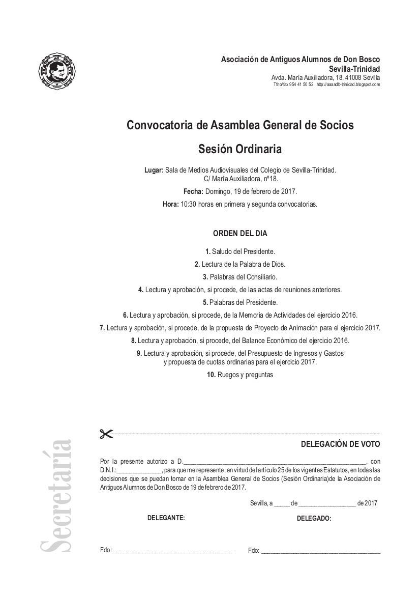 Asamblea general de socios 2017 en dos d as asociaci n - Socios del sevilla 2017 ...