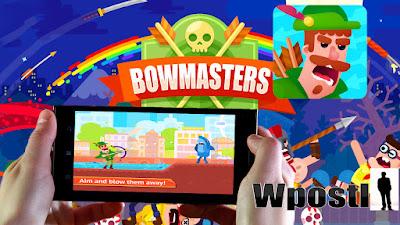 لعبة: Bowmasters : تبادل رمي أسهم واشياء الحادة في محاولة قتل الخصم بطريقة مضحكة ومسلية .. شرح البرنامج عبر الفيديو التالي فرجة ممتعة .
