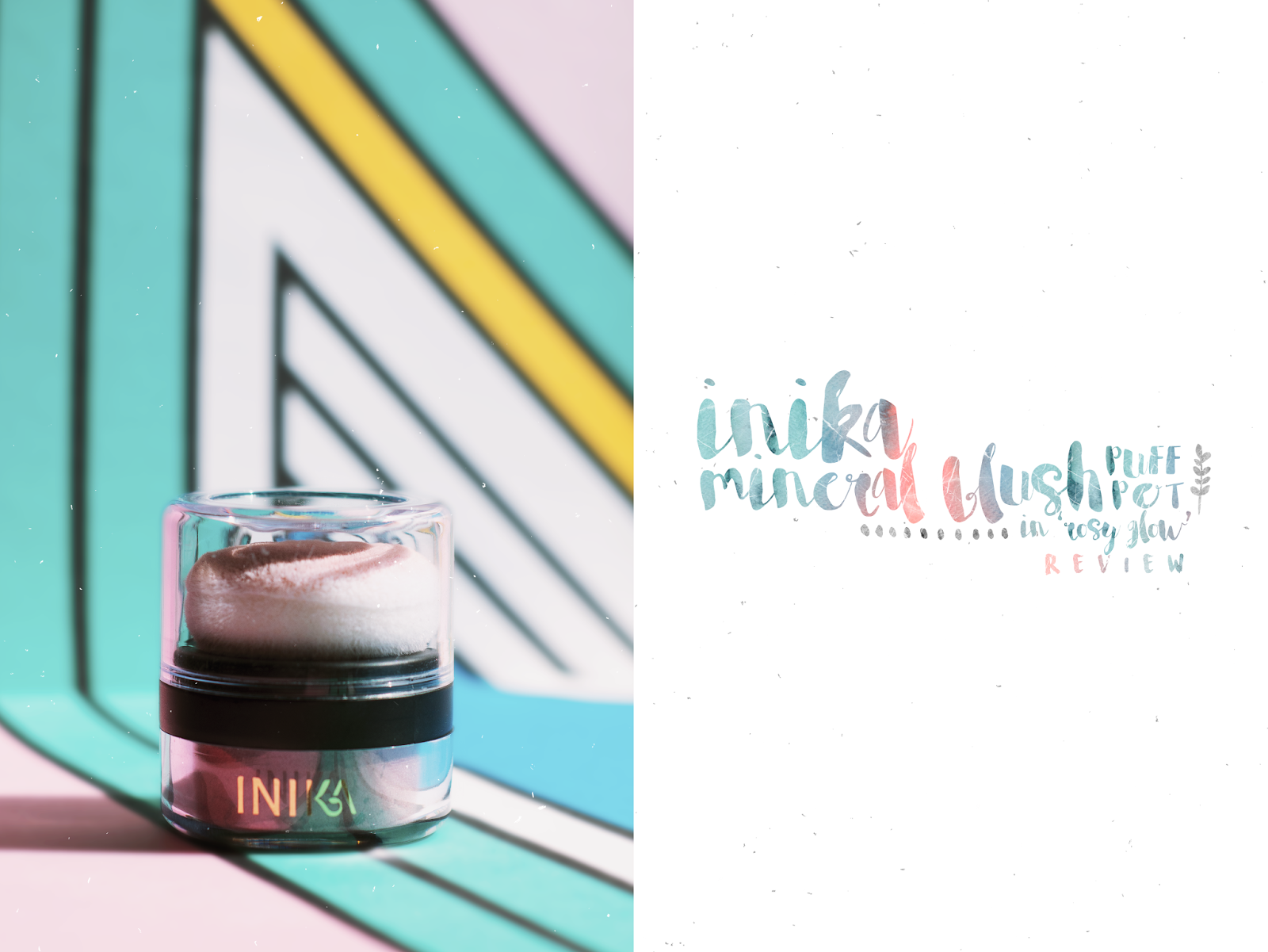 Inika Mineral Blush Puff Pot in Rosy Glow Natural Organic Beauty Vegan Cruelty Free Review
