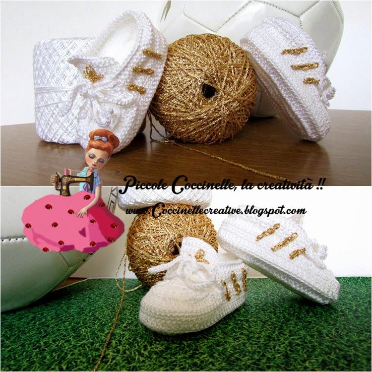 Piccole Coccinelle La Creatività Scarpette Stile Adidas