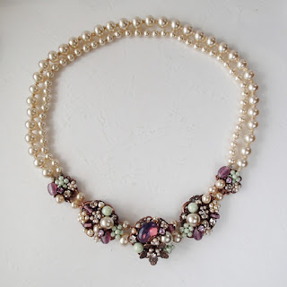 Miriam Haskell style, romantic bridal jewellery, necklaces