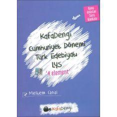 Kafa Dengi LYS Cumhuriyet Dönemi Türk Edebiyatı