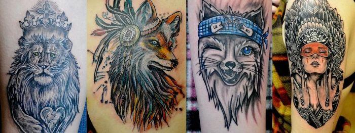 Оля Гостева (татуировки)