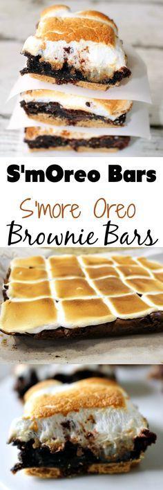 Smore Oreo Brownie Bar