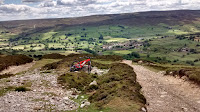 Offroad drop into the valley of swaledale yorkshire dales- by: © Paul c Walton