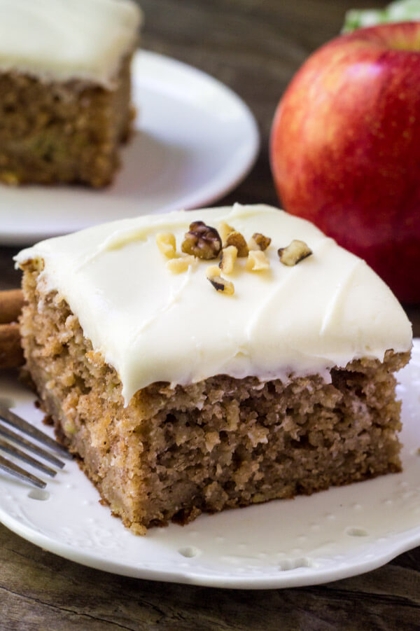 Apple Spice Cake with Cream Cheese Frosting
