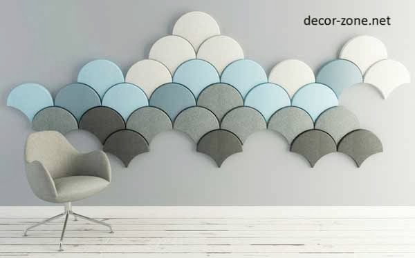 decorative acoustic wall panels ginkgo leaves style